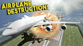 massive airplane destruction more disassembly 3d gameplay ep 4