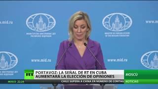 Cancillería de Rusia: La señal de RT en Cuba contribuirá a la diversidad de opiniones