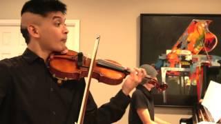 Fiddler on the Roof Violin Cadenza (early rehearsal) - Eric Sun