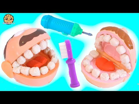 Thumbnail: Dentist Doctor Barbie Drills + Fills Patients Teeth - Play Doh Tooth Maker Playset