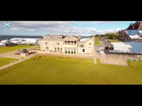 Scotland  - 'the home of golf' - by drone
