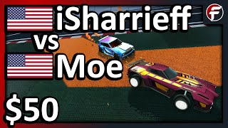 Moe vs iSharrieff   THE RETURN OF MOE   $50 Rocket League 1v1 Showmatch