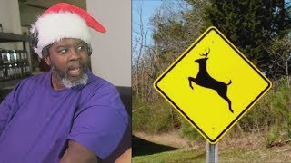 Dad Reacts to  Please Move The Deer Crossing Sign.