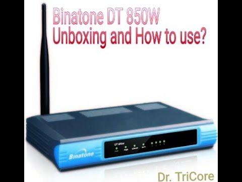 Binatone DT910w all configuration Walkthough | DHCP | QoS | Airtel