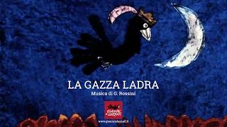 """La gazza ladra (1964). Episodio di """"Omaggio a Rossini"""", di Giulio Gianini ed Emanuele Luzzati"""