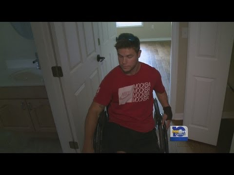 Home built for injured Marine completed