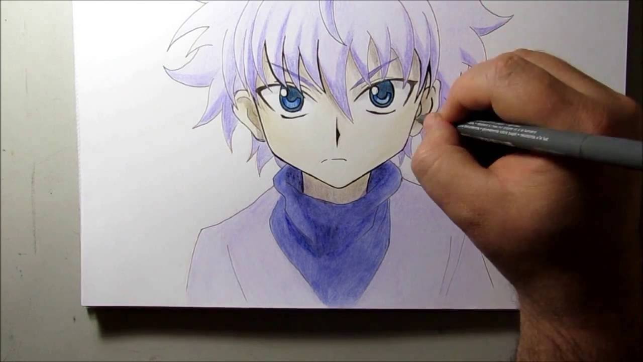 Desenhos Do Meu Sketchbook 18 Killua Hunter X Hunter Youtube