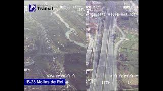 Caída de tráfico en Catalunya: comparación respecto a hace 2 semanas