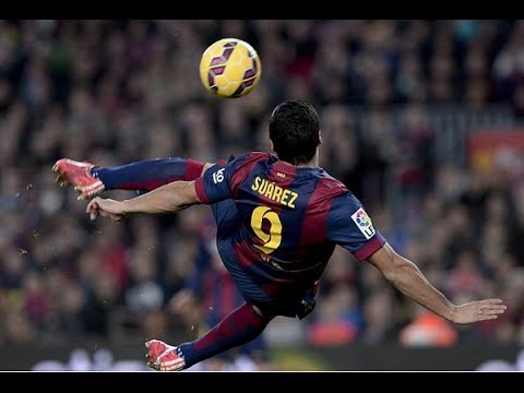 Amazing Bicycle kick Goal from Suárez vs Lev●HD●1522015●  Fcb 50 Lev