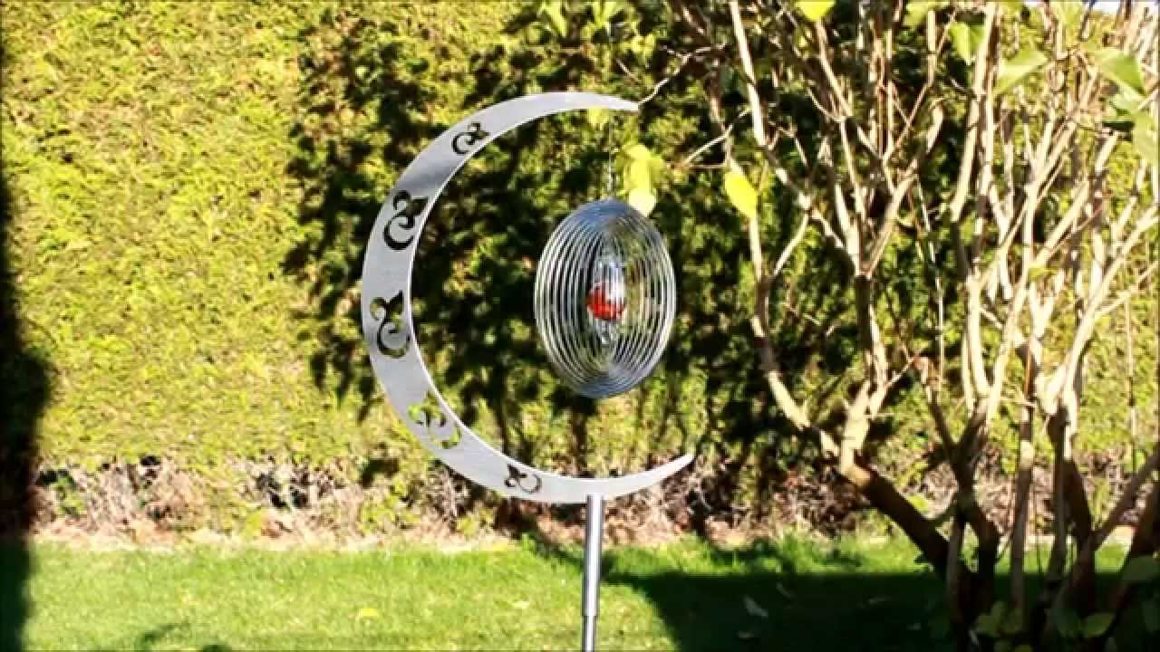 mondsichel gartenstecker für windspiele - hochwertiger edelstahl, Garten ideen gestaltung