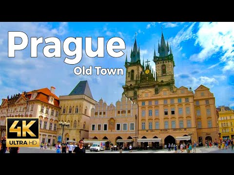 Prague, Czech Republic Walking Tour Part 1 - Old Town (4k Ultra HD 60fps)