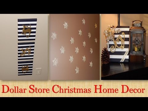 Dollar Tree Christmas Wall Decor Collab