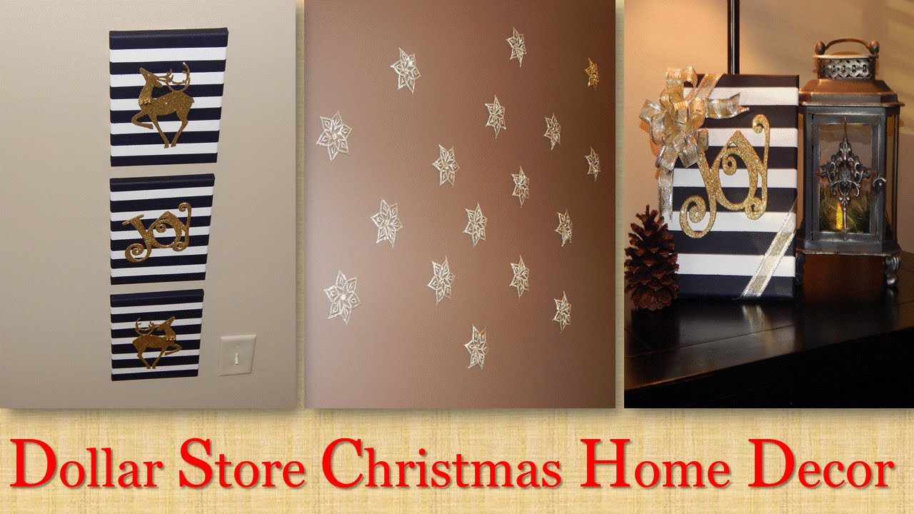 Wall Decor Stores Dollar Tree Christmas Wall Decor Collab  Youtube