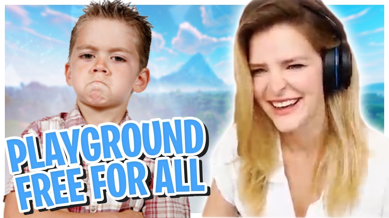 PLAYGROUND FREE FOR ALL VS 11 YEAR OLD KIDS! (Fortnite: Battle Royale Gameplay) | KittyPlays
