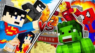 minecraft superhero fight