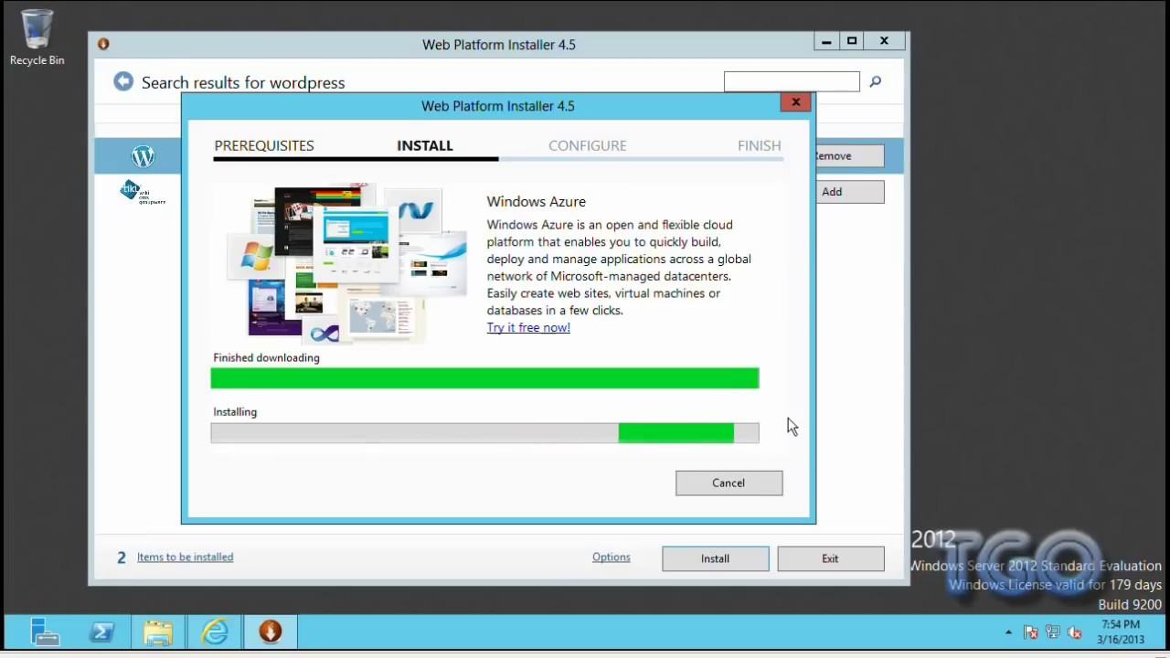 Install Wordpress on Windows Server 2012