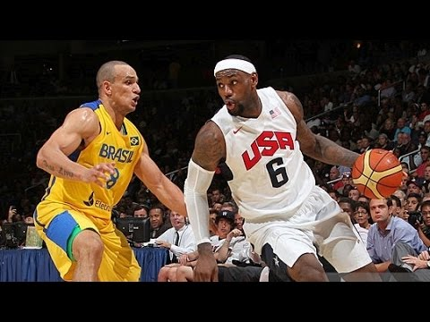 Brazil @ USA 2012 Olympic Basketball Exhibition FULL GAME HD 720p English