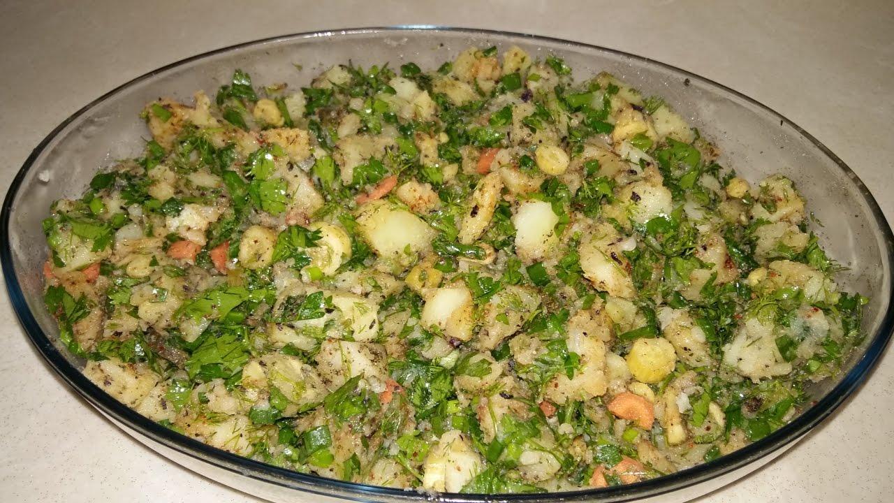 Taze Soğanlı Patates Salatası Videosu