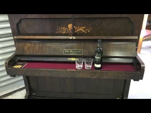 turning a piano into a bar youtube. Black Bedroom Furniture Sets. Home Design Ideas