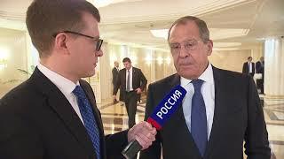 Смотреть видео Интервью С.Лаврова для программы «Москва. Кремль. Путин» онлайн