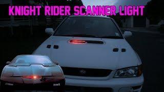 Knight Rider Scanner Light In A Subaru Scoop Install! GF8 STi