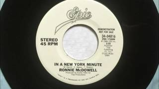 Watch Ronnie Mcdowell In A New York Minute video
