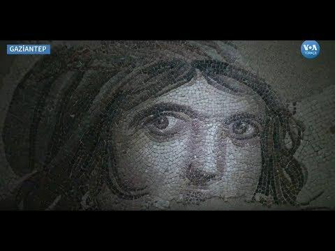 Çingene Kızı Mozaiği'nin Parçaları Gaziantep'e Döndü