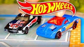 Cars toys videos. Car race on a race track