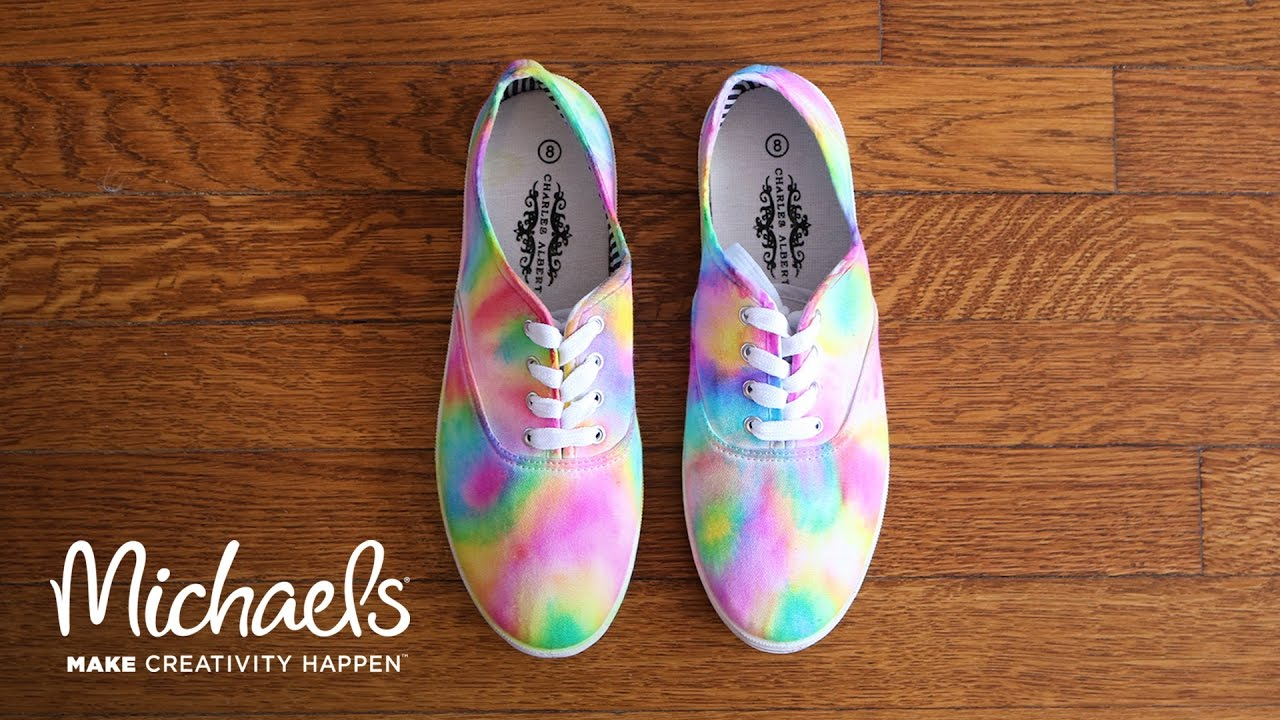 DIY: Sharpie Tie Dye Shoes | Michaels