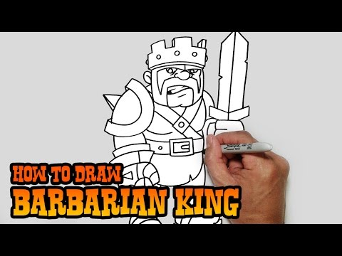 How to Draw Barbarian King | Clash of Clans
