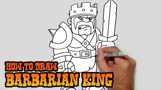 How to Draw Barbarian King- Clash of Clans- Video Lesson(Learn how to draw the Barbarian King from Clash of Clans in this easy step by step video tutorial. All my lessons are narrated and drawn in real time. I carefully ..., 2015-02-16T08:03:11.000Z)