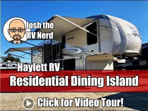 NEW MODEL! 2019 Jayco 319MLOK Eagle Vacation Suite Rear & Outside Kitchen Couple's Fifth Wheel RV