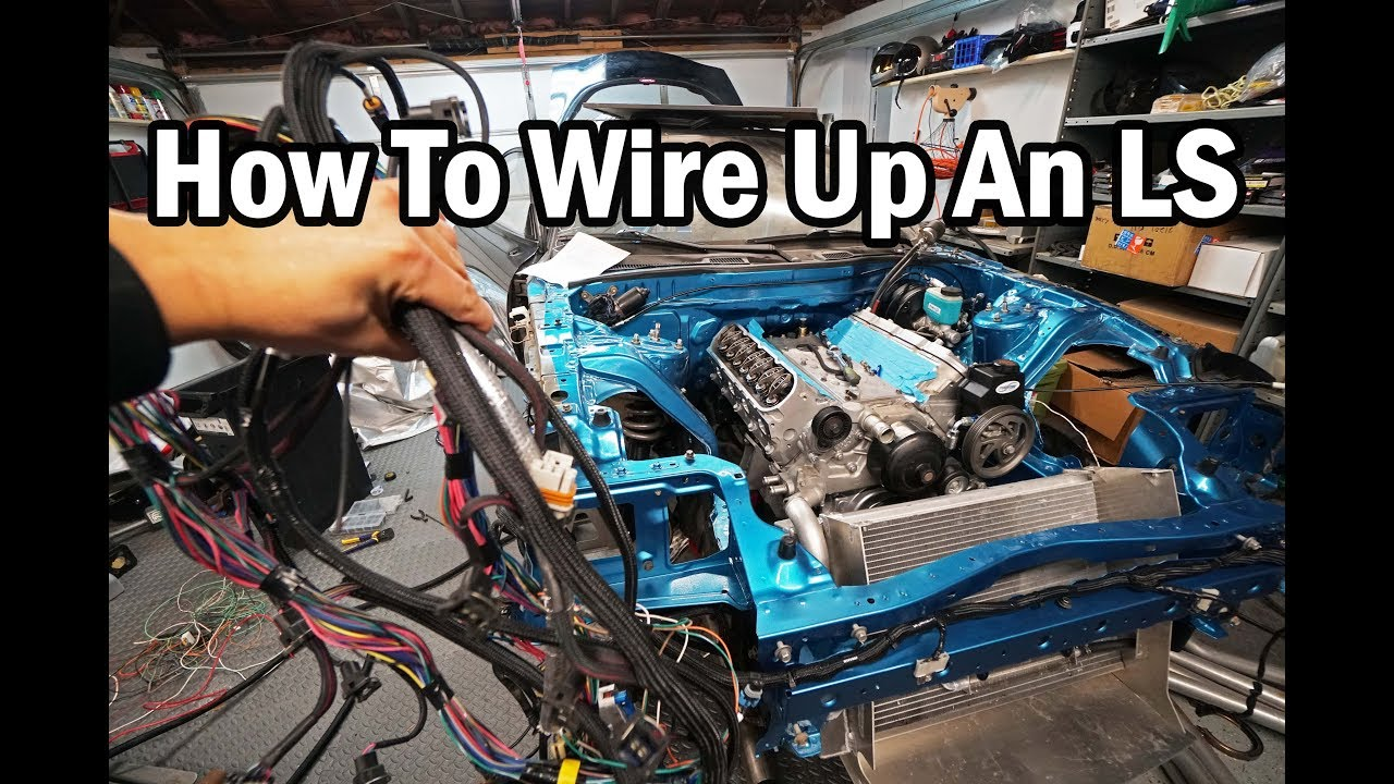 how to wire up an ls engine - ls harness explained - fd rx7 race car build  video series 31
