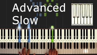 Ludovico Einaudi - Una Mattina - piano tutorial easy SLOW - Intouchables- synthesia