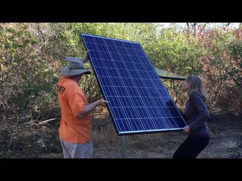 BriteStar Solar Aerator Installation