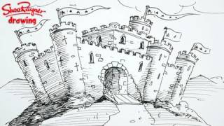How to draw a castle - spoken tutorial