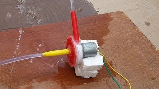 How to Make an Electric Water Pump from Trash - DIY thumbnail