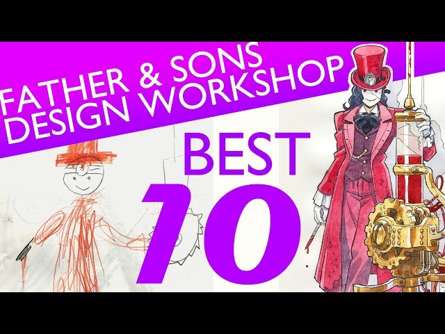 DRAWING anime style characters with my KIDS – BEST 10