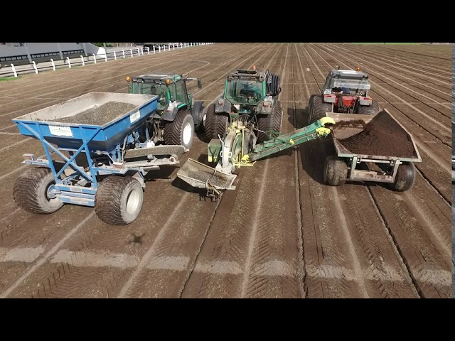 Amazing drone footage of drainage works