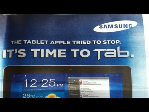Samsung: The Tablet Apple Tried To Stop Advertising Campaign Australia #WINNING