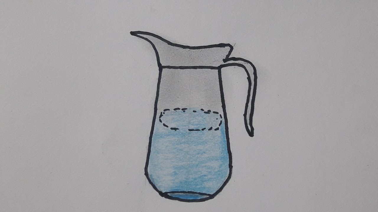 How to draw a jug step by step ✿ drawing a jug avro drawing school