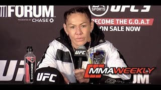Cris Cyborg Upset for Being Kicked Out of the Cage, Not Allowed to Talk at UFC 232