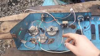 Трактор Т-40АМ восстановление проводки,проверка генератора.