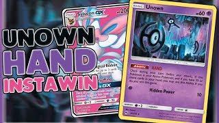 INSTANT WIN! Unown HAND / Sylveon GX deck profile! [Pokemon TCG Online]