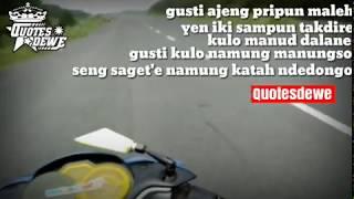 "Story wa terbaru cover guyon waton ""manut dalane"""
