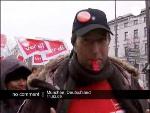 Demonstrations in Munich in Germany