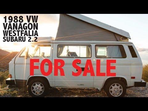 1988 VW Vanagon Westfalia Subaru 2.2 - FOR SALE