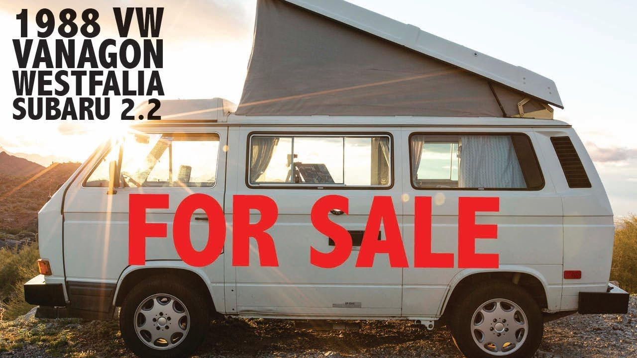1988 Vw Vanagon Westfalia Subaru 2 2 For Sale