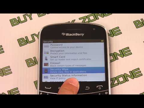 How to restore the factory settings on a Blackberry Bold 9930