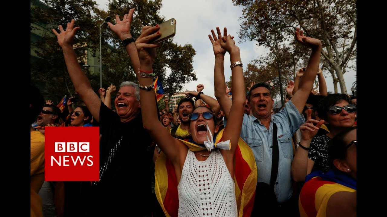 Breaking News Catalonia Declares Independence Bbc News